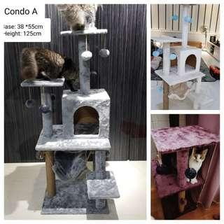 *INSTOCK* Cat Condo Tree Playground Colourful not cat bowl cat carrier or cat cage cat litter