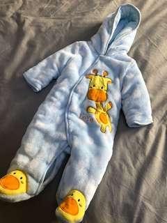 全新嬰兒冬天厚連體服