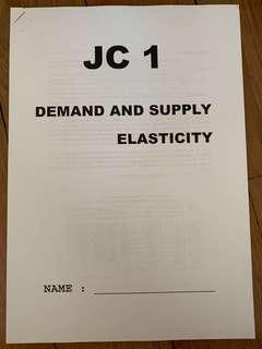 A levels H1/H2 Economics Demand, Supply and Elasticity & Market Failure Notes