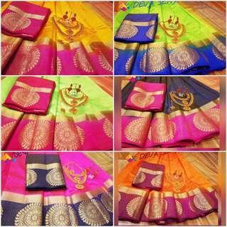 Devasena Tussar Silk SareeS