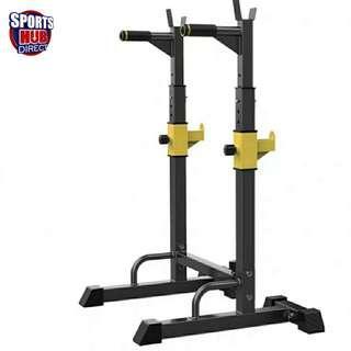 🚚 Adjustable Squat Rack Dipping Bar Weight Rack Gym Equipment  500kg