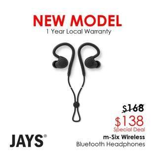Jays m-six Wireless Bluetooth Headphones