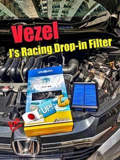Vezel J's Racing Drop-in Filter ( 🇯🇵🆙️💯💪)