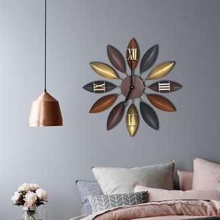 Modern European Style Wall Clock | Retro | Vintage Leaf