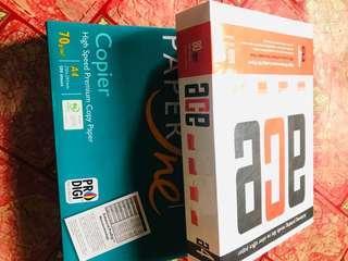 Bundle Stationary A4 Paper  Index Divider Artline500 Adhesive Tape Paper Puncher #NEW99