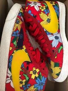 W Blazer Mid Textile Print Nike Shoes