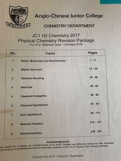 A level H2 chem revision package