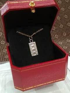 UK Antique 1978 Sterling Silver Pendant, P&RB (P & R Bushell), 20mm High, 11mm Width, 2mm Thickness, 4.0g, Birmingham English, Full UK Hallmarks, with free of charge Classic Jewelry Red Box and Anklet Chain marked 925 ITALY, 英國古董純銀吊咀送特色紅盒及腳鏈