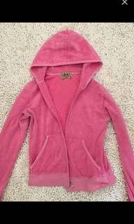 JUICY couture vintage hoodie in pink size small