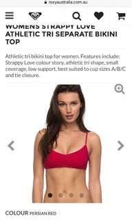 Strappy love athletic tri separate bikini top