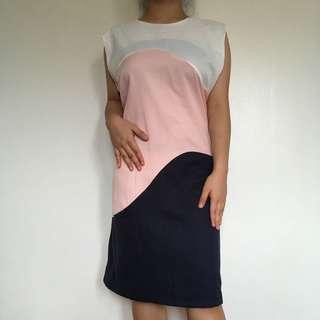 Brand new plains and prints dress