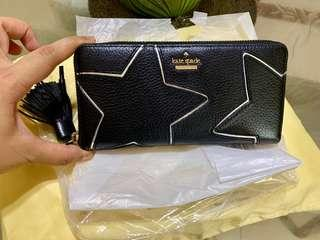 Authentic Kate Spade Star Leather Long Wallet