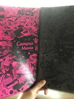 A4 sizes notebook ( pink or black )