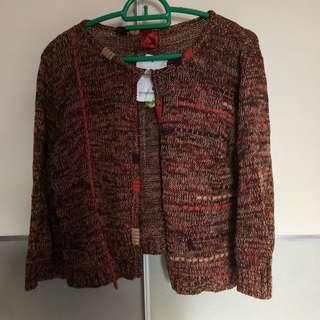 Retro Orange Knitted Cardigan #Jan50