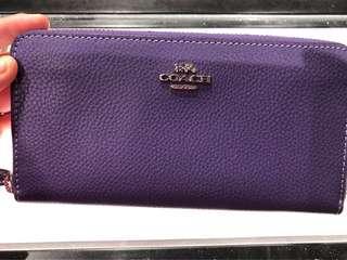 Coach 銀包 purple