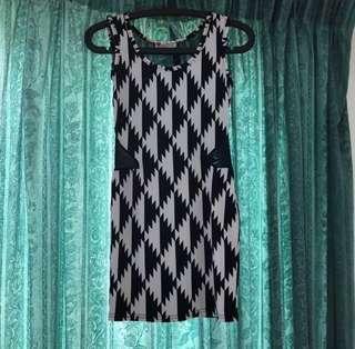 Sleeveless Back See Through Dress
