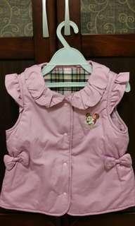 🚚 麗嬰房Disney米妮粉紫色鋪棉背心(3-4歲適穿)
