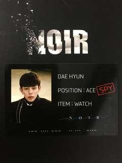 B.A.P Noir Dae Hyun Official Photocard