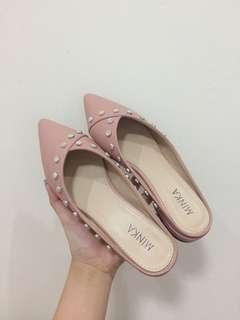 Minka pink mules