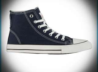 CONVERSE STYLE UK BRAND LEE COOPER HI TOP TRAINERS SIZE 8 UK (42) or 9 UK (43) UNISEX.