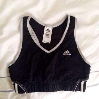 Adidas Sports Bra (Black and White)