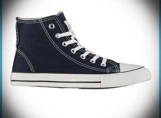 CONVERSE STYLE UK BRAND LEE COOPER HI TOP TRAINERS SIZE 5 UK (38) UNISEX.