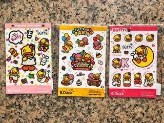 三張$20包郵B duck, Minions及各種貼紙