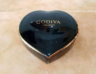 Godiva chocolatier ceramic trinket box