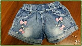 🚚 韓版牛仔短褲(5-6歲適穿)