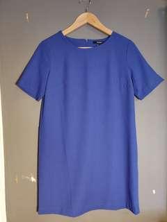 Forever 21 藍色直身裙 Royal Blue T-shirt Dress