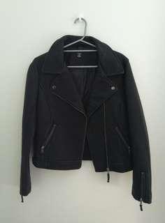PU Leather Biker Jacket Size M