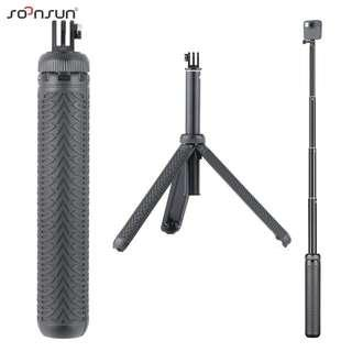 🚚 SOONSUN 3 in 1 Foldable Hand Grip Tripod Shorty Selfie Stick Monopod Extendable Pole for GoPro HERO 7 Smartphone Action Camera Mobile Phone