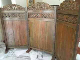Antique Room Divider made of walls from Dutch house in Indonesia 18th century