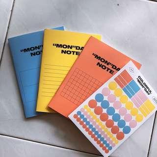monsta x notebook 💙🐋