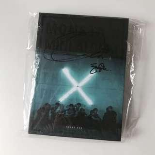 [mwave signed] monsta x 3rd mini album the clan part. 1: lost (found ver.) with hyungwon's signature