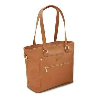 BNWT Jujube Everyday Leather Tote brulee preorder