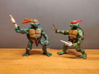 忍者龜 玩具 TMNT Teenage Mutant Ninja Turtles Figures (Raphael & Michaelangelo)