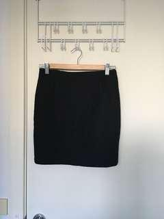 Black wool woollen mini skirt Korea Korean winter autumn