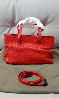 Brand new Bottega Fire Red Vermillion handbag