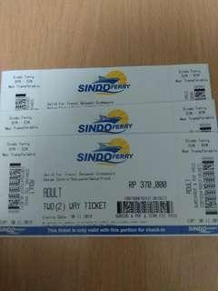 Sindo Ferry Ticket valid for all passport