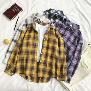 [PO] checkered flannel