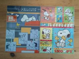 BN Snoopy / Gudetama / Winnie the Pooh L-shaped Plastic Folders