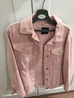 Stradivarius Pink Jeans Jacket TURUN HARGa