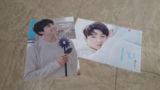 BTS Bangtan Jeon jungkook posters vertical and horizontal (set of 2 or 1 poster)