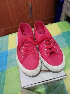 Used Superga Pink Sneakers size 38