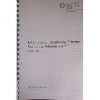 HKICS Study Pack - Corporate Administration