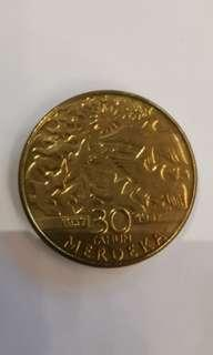 Limited Edition 30 Years Merdeka Collectable Coin
