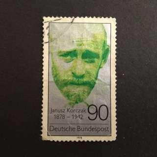 Deutsche Bundespost used old stamp