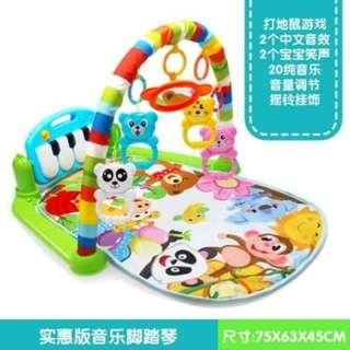 WI30/O0*V WKick and Play Piano Gym Baby Toys Musical Playgym Mat.