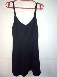 Spaghetti Dress with buttons (black)